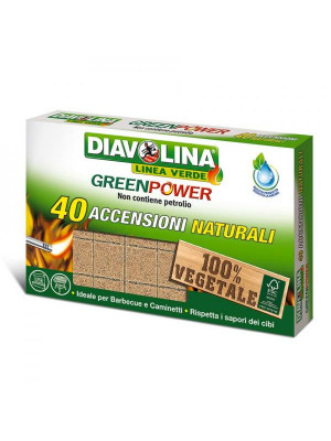 Accendifuoco Green Power Naturale 40 cubetti